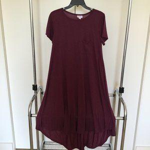 LuLaRoe Maroon Carly Dress